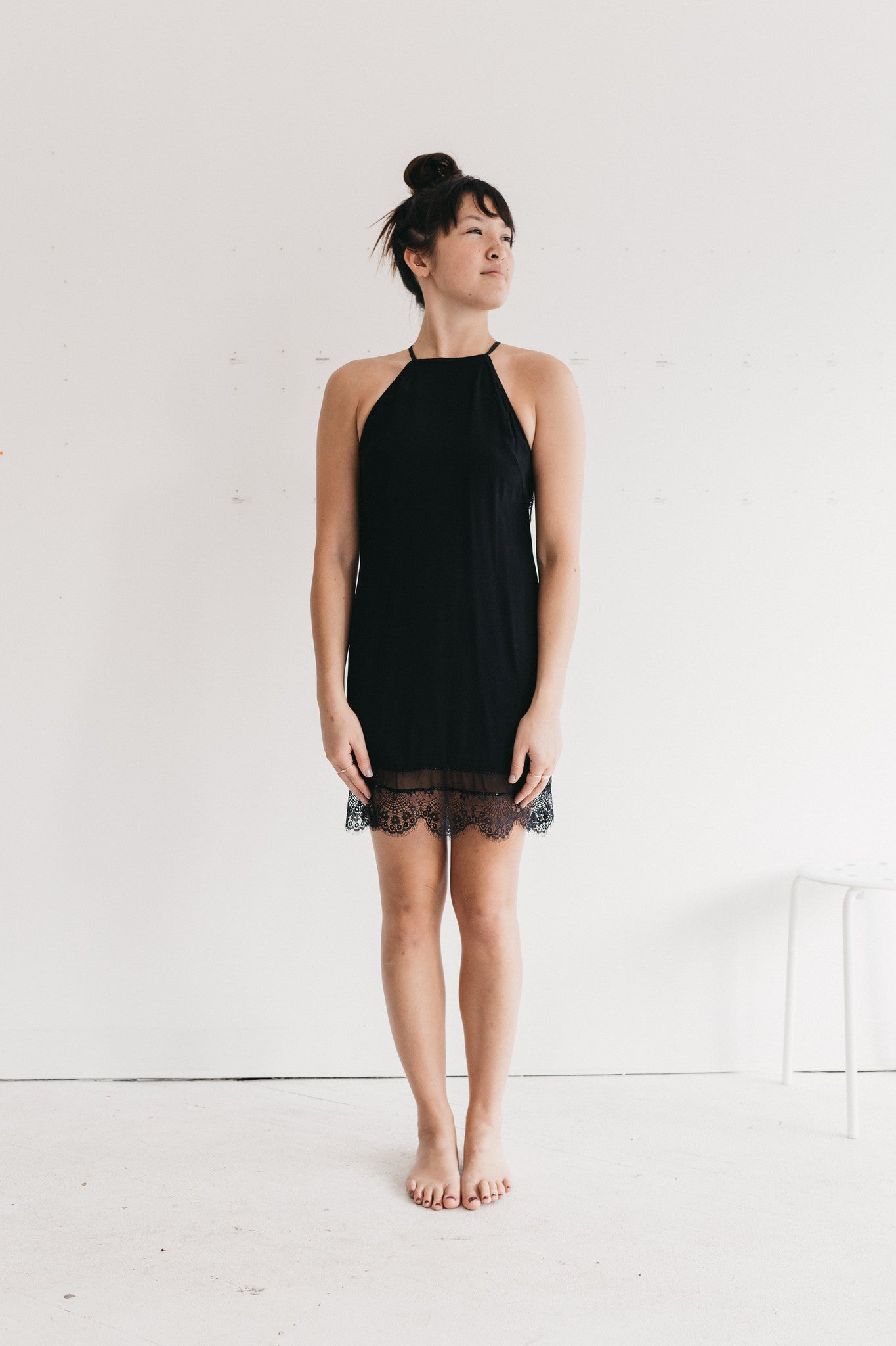 Black Lace Dress Uma & Leopold Fall Racerback