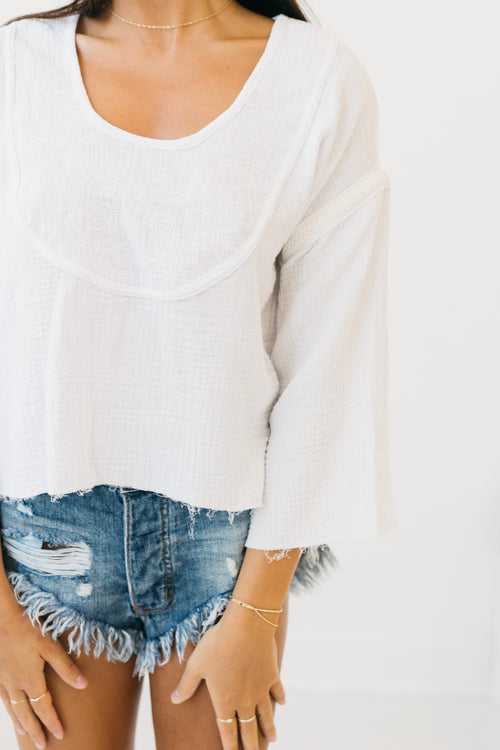 The Soul Silence Top in White by OneTeaspoon Australia