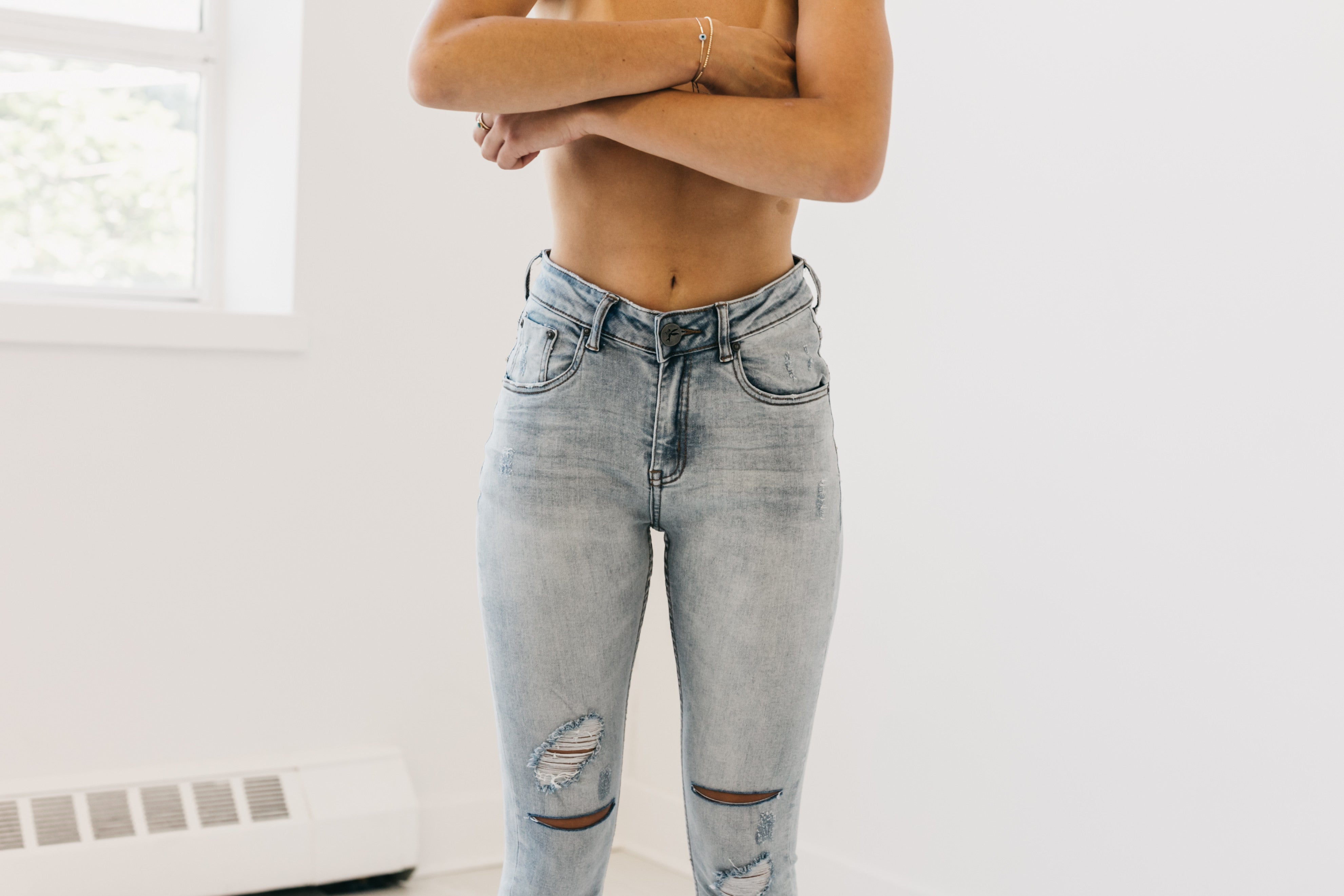 Hellcat High Waist Spray Ons Denim Jeans by OneTeaspoon Australia