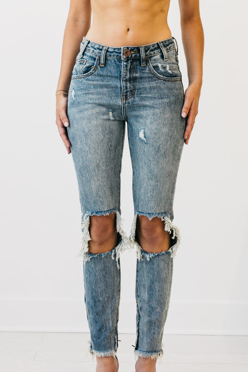 High Waist Jeans Whiskey Freebirds by OneTeaspoon Australia