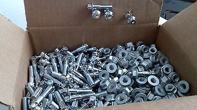 (100pcs) 7mm Assembly Chrome Bolts For 2 And 3 Piece Wheels