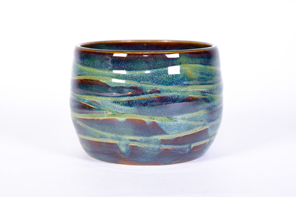 Forest Green Wave Soup Bowl