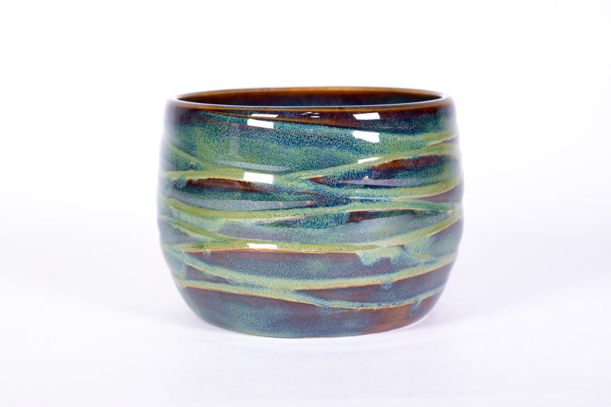 Forest Green Wave Bowl