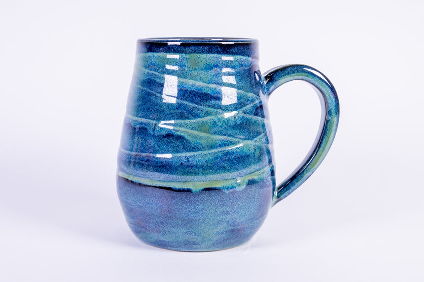 Blue and Green Wave Mug