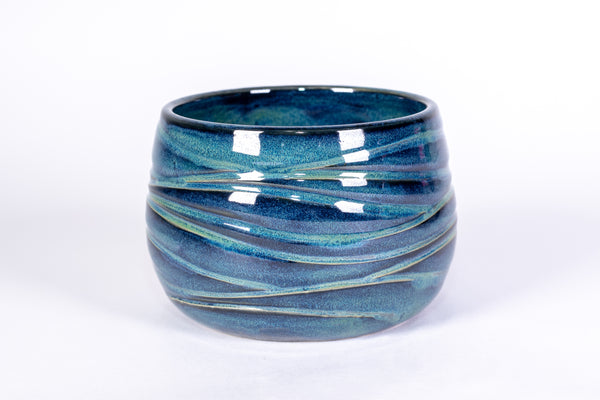 Blue and Green Wave Soup Bowl