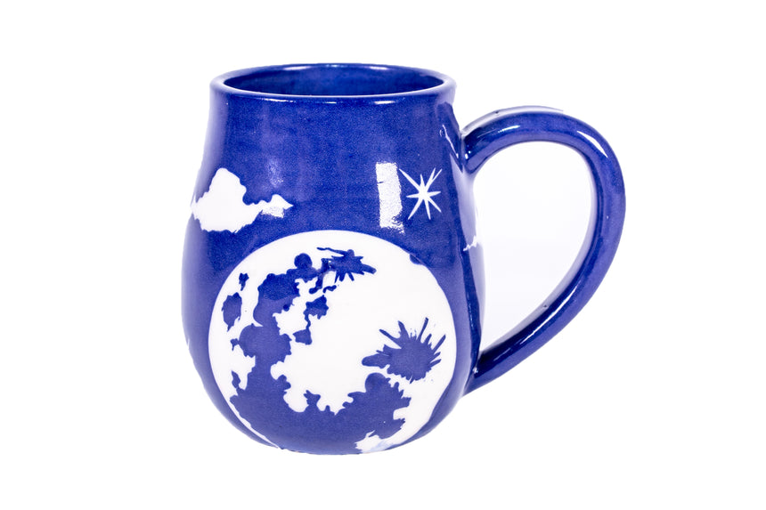 Full Moon and Clouds mug - 12 ounce