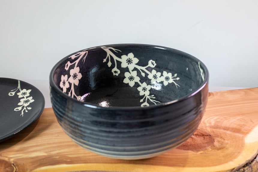 Cherry Blossom Swirl serving bowl
