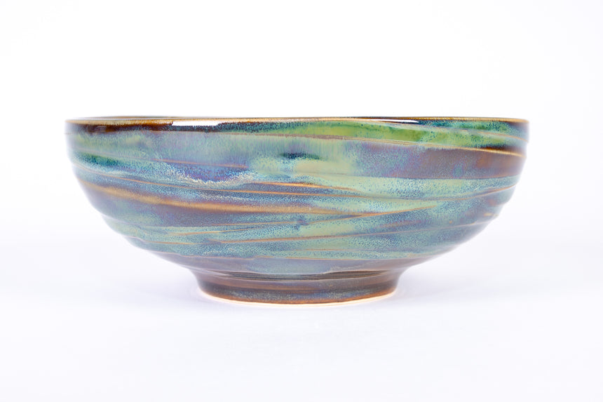 Forest Green Wave Bowl (stackable)