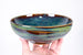 Forest Green Stackable Wave Textured Pottery Soup Bowl