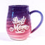Best Mom mug in Purple and Pink gradient glaze