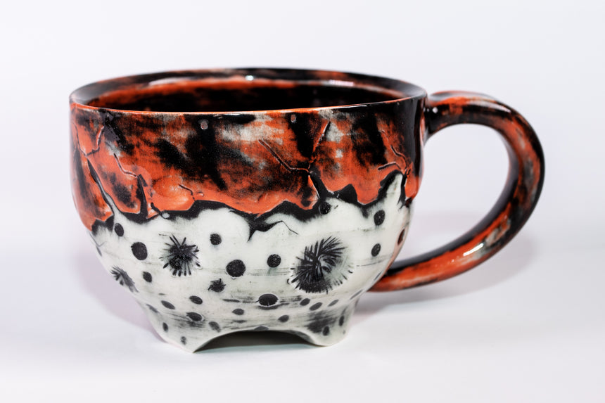 Seconds sale - Moon mug in Orange - Porcelain