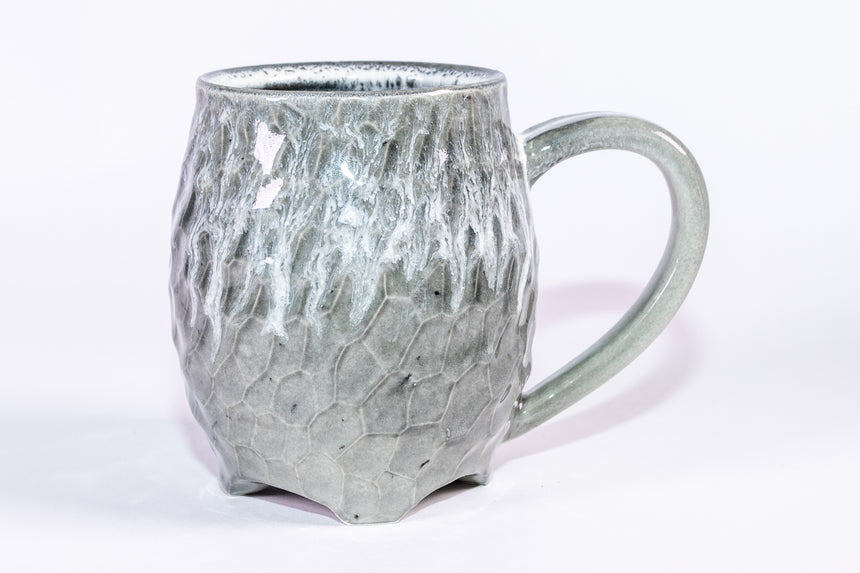 Grey rain mug - Faceted series