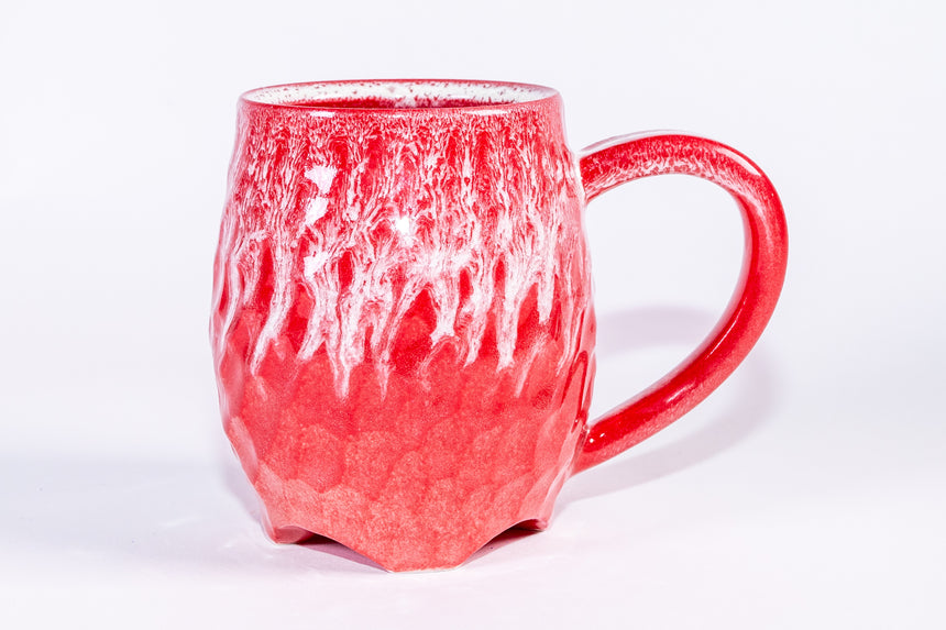Red rain mug - Faceted series