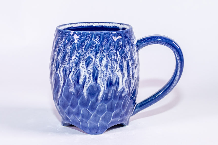 Sky Blue rain mug - Faceted series
