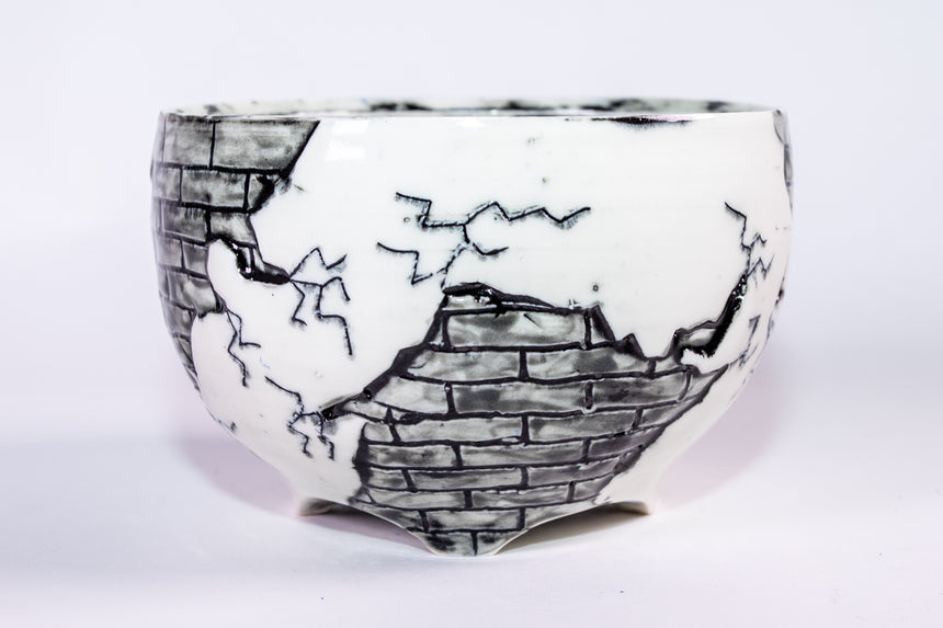 Grey Brick bowl - Fractured series