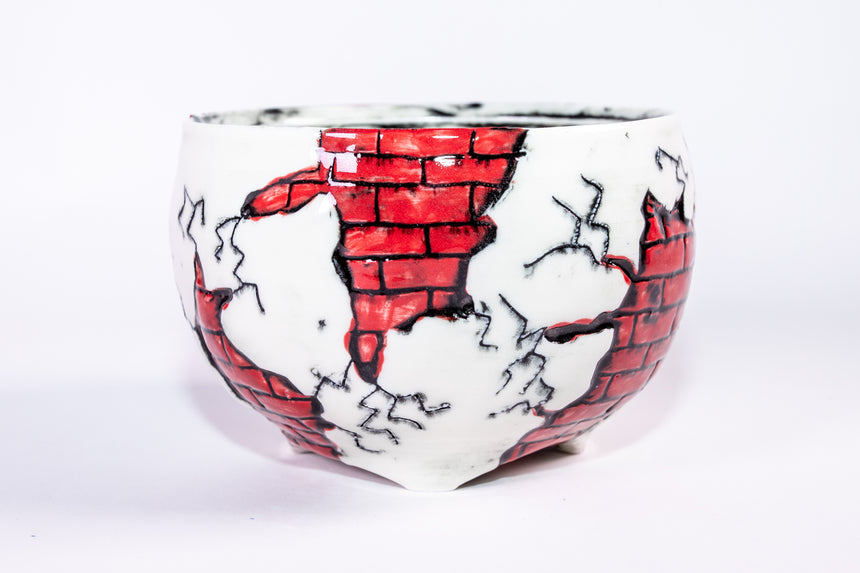 Red Brick Bowl - Fractured series
