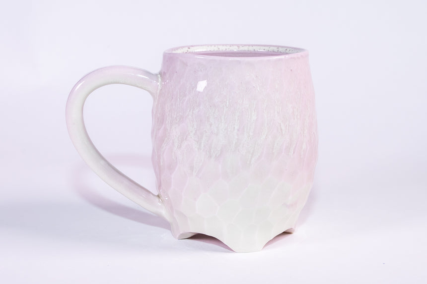 Blush Pink Rain mug - Faceted series