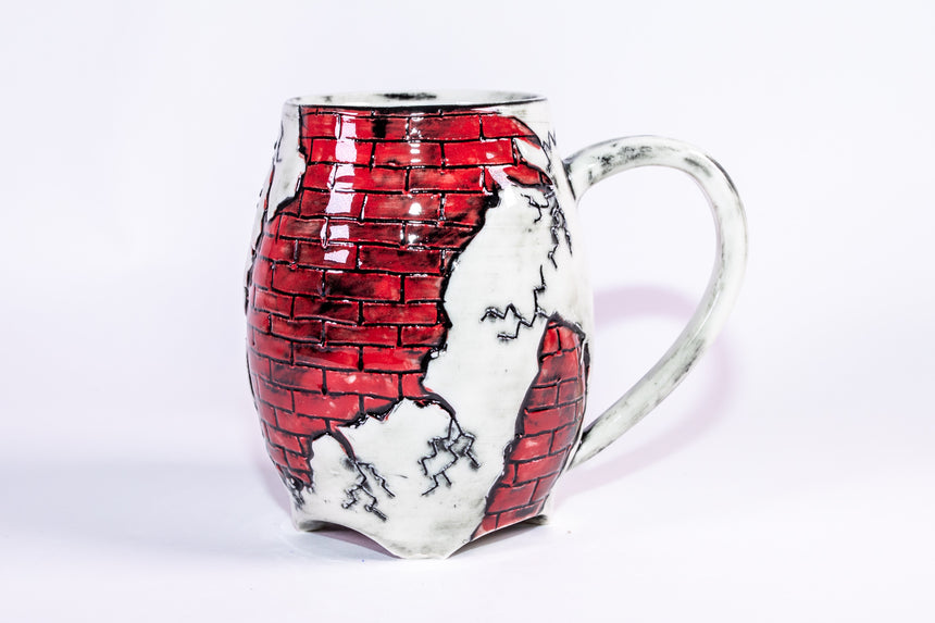 Red Brick mug - Fractured series