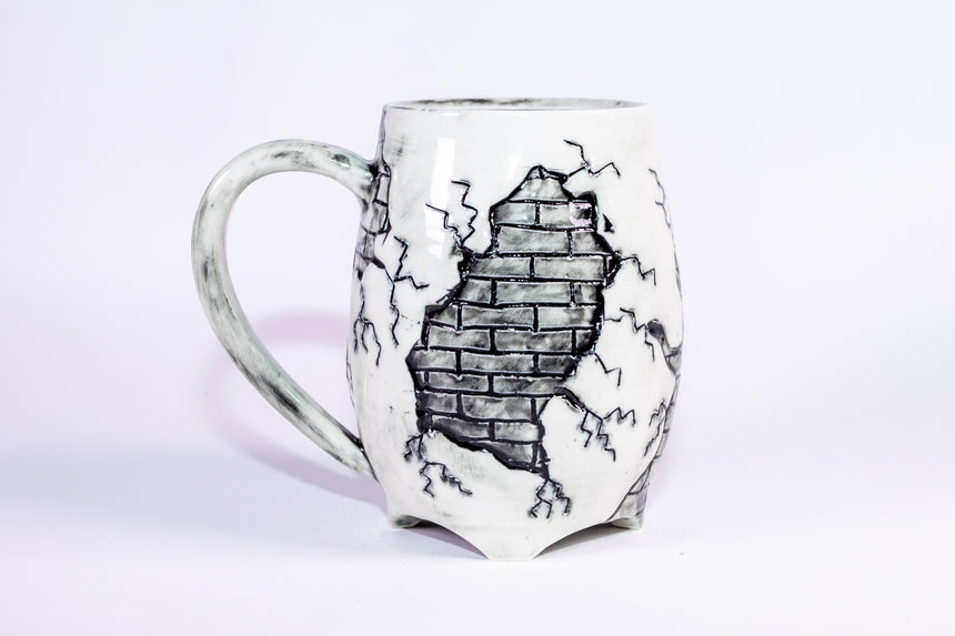 Red Heart Brick mug - Fractured series