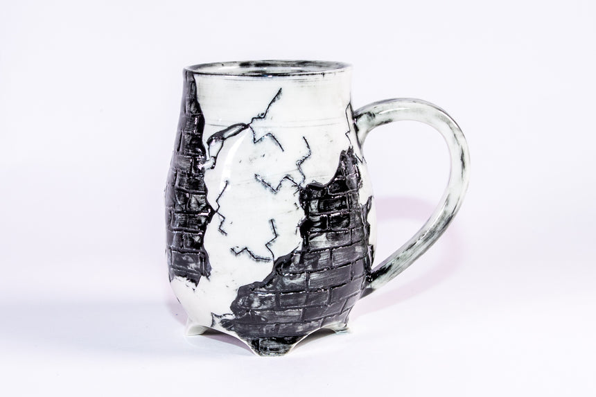LIMITED Black Brick mug - Fractured series