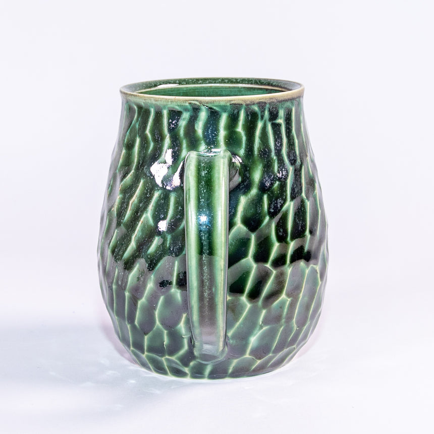 LIMITED Flat foot Seafoam mug - Faceted series