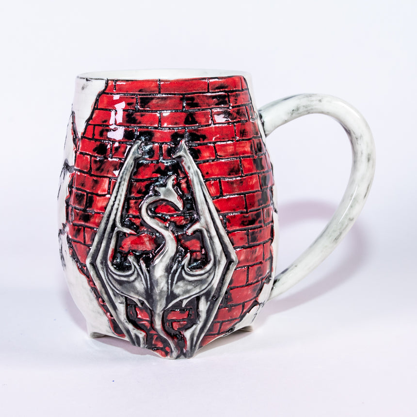 Dragon Brick mug - Fractured series