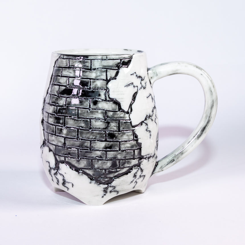 Grey Brick mug - Fractured series