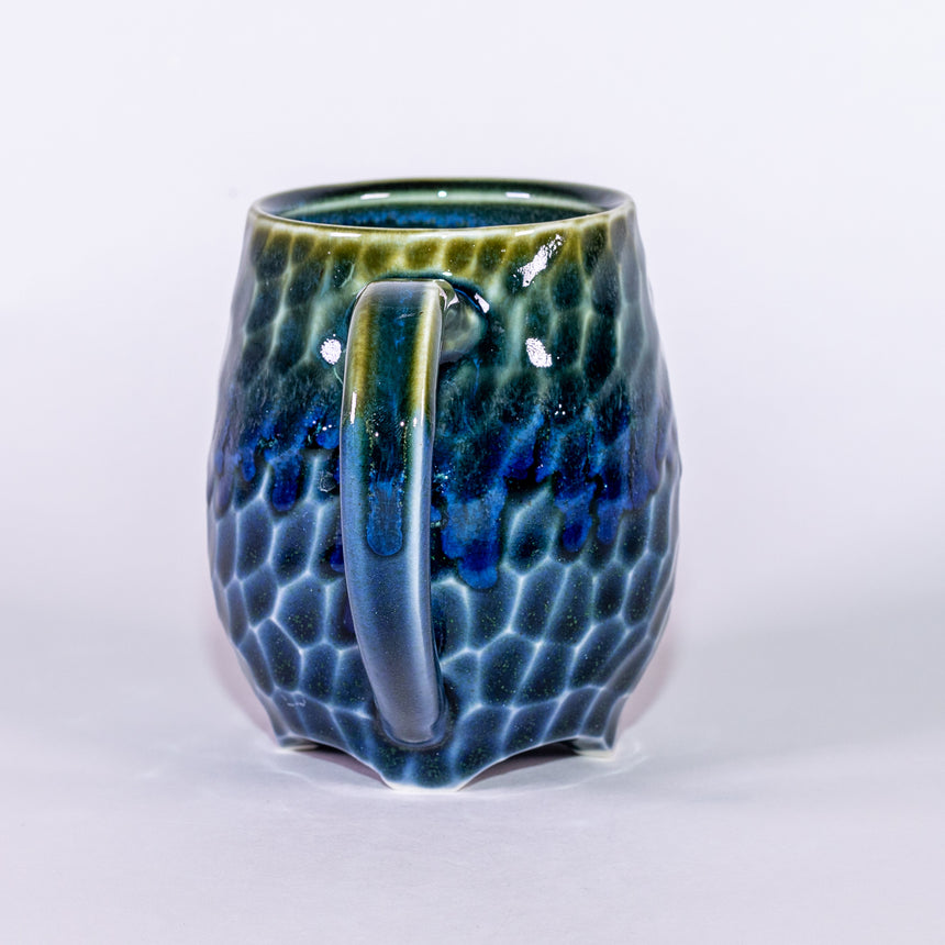 Azure Waters - Porcelain Faceted series mug
