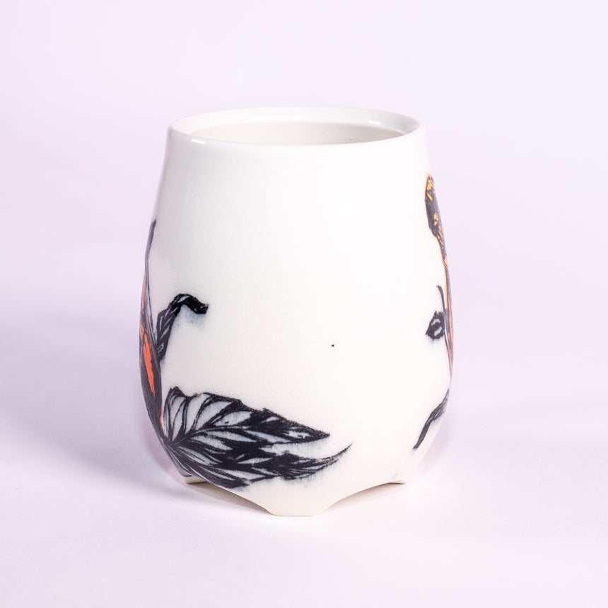 The Hibiscus - Porcelain series mug