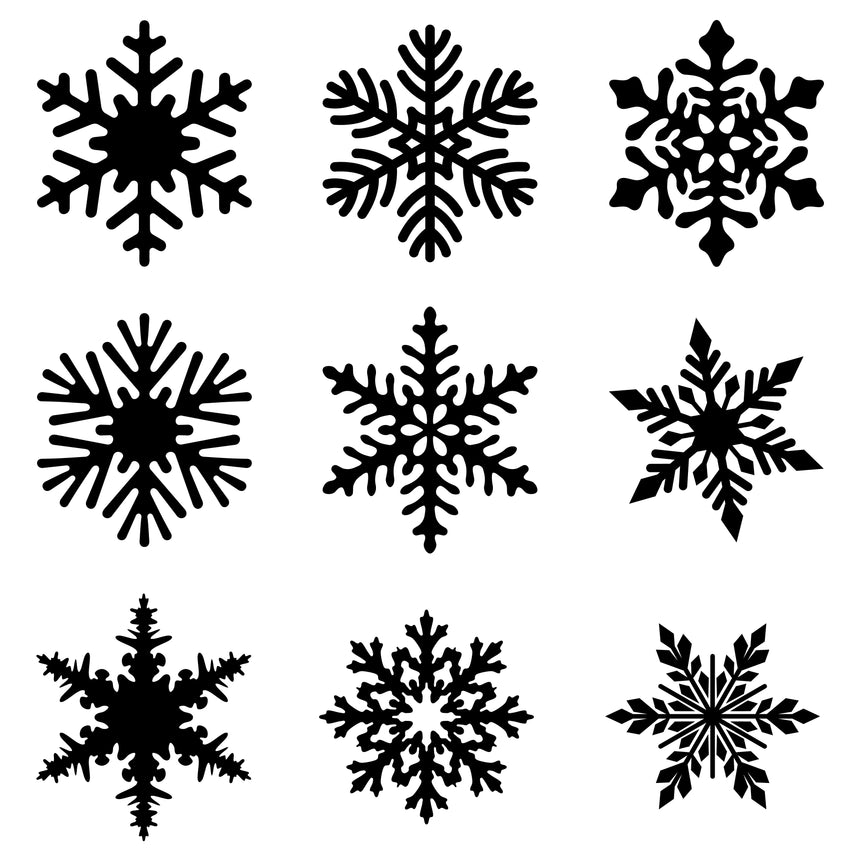 Snowflakes sprig mold