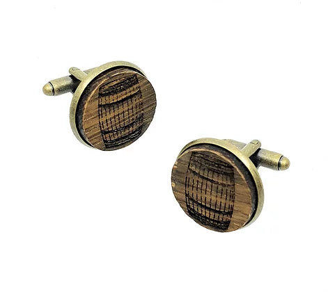 Bourbon Barrel Cufflinks