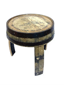 Bourbon Barrel End Table