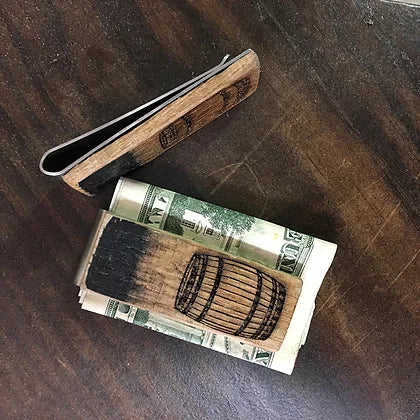 Reclaimed Bourbon Barrel Money Clip