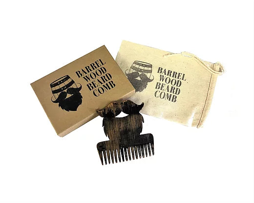Bourbon Barrel Wood Beard Comb