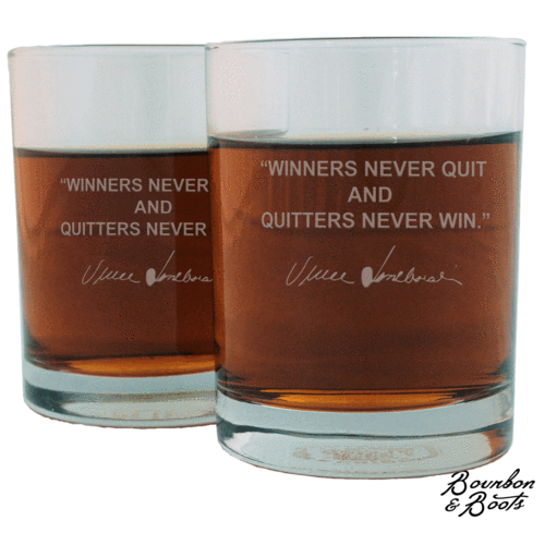 Sports Quotes Whiskey Glasses (Set of 6 Top Sellers)