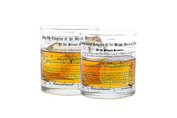 Prohibition Rocks Glass Set - 18th and 21st Amendments