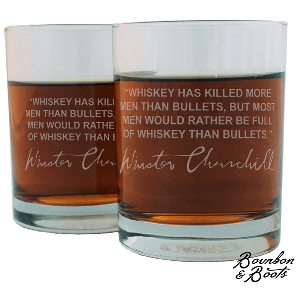 Whiskey Lovers Engraved Personalized Whiskey Glasses (Set of 4 Top Sellers)