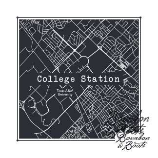 College Town Alumni Etched Map Serving Tray - Barware