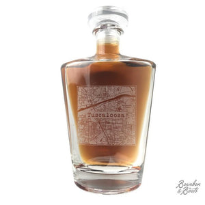 College Town Alumni Etched Map Whiskey Decanter - Barware