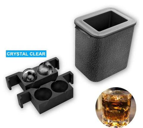 Clear Ice Ball Maker - Silicone Ice Mold Using Directional Freezing Method