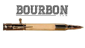 Handcrafted Bourbon Barrel Pen - 24kt Gold Hardware