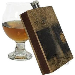 Reclaimed Bourbon Barrel Wood Flask - Barware