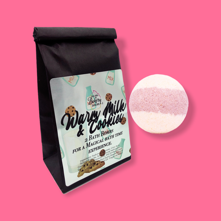 Bath Bomb-Warm Milk and Cookies