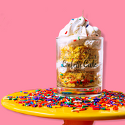 Confetti Cake in a Cup Candle