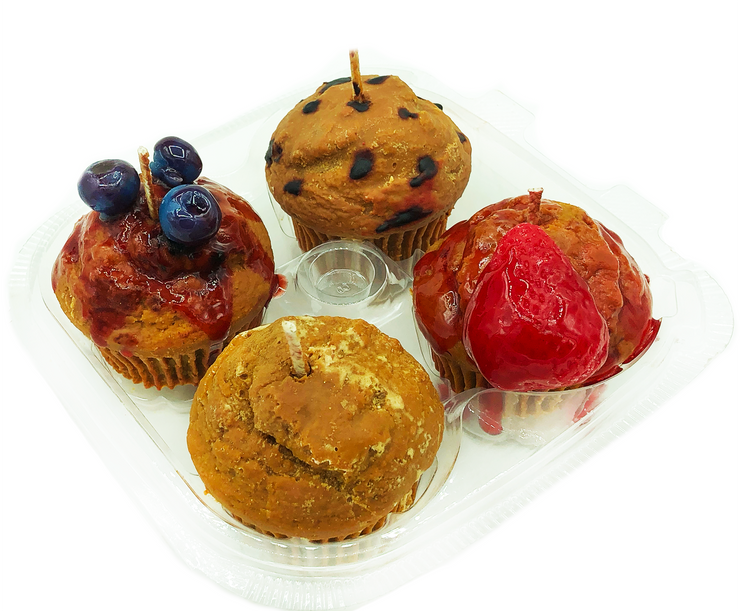Assorted Muffins Candle Set
