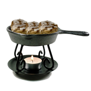 Cast Iron Skillet Wax Burner - Shea Shea Bakery
