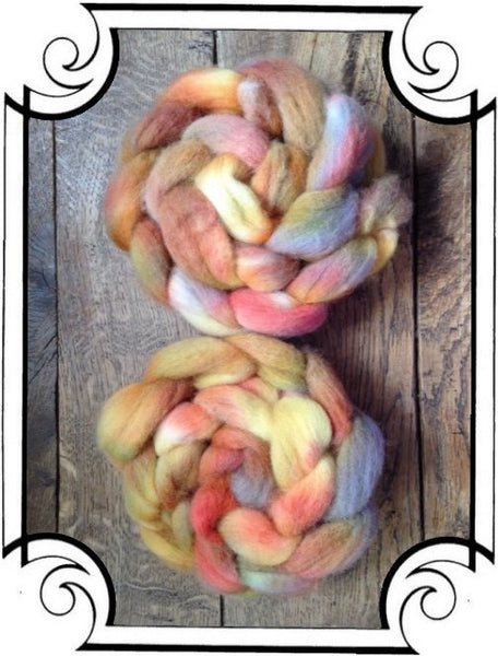 Handpainted Cheviot Roving -