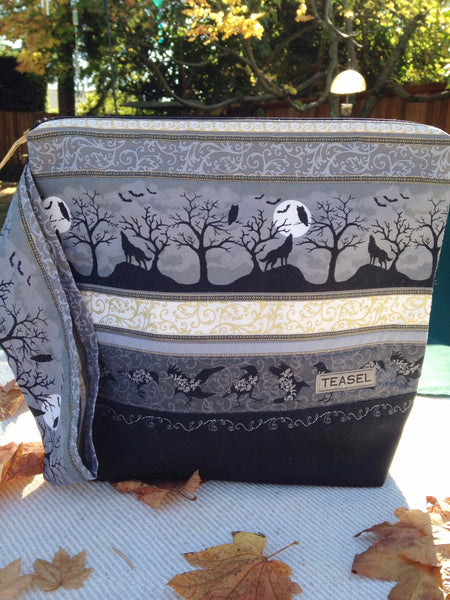 """Moonlight Spooky Serenade "" Large Project Bag"