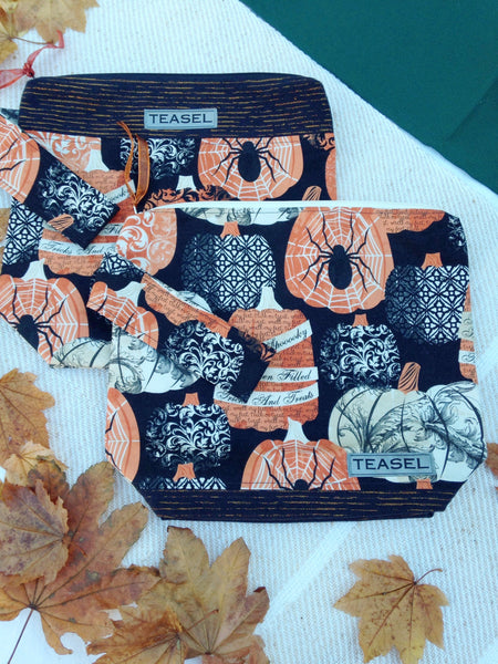 """Halloween Delight""--Sock Size Project Bags"