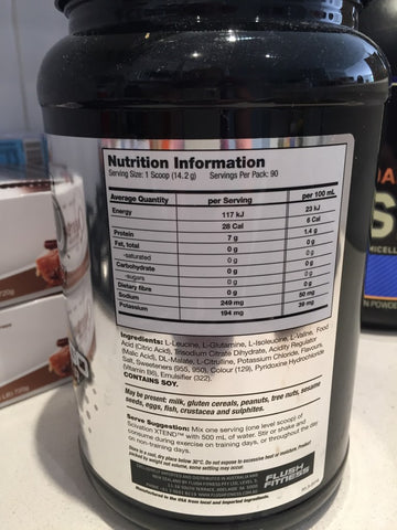 Scivation XTend Ingredients